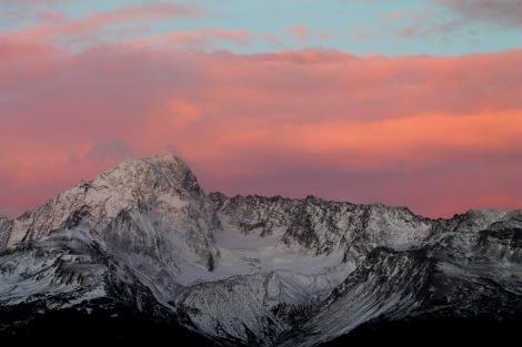 Late-September sunset over Mount Alice.